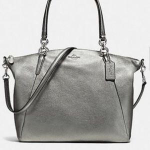 Coach Gunmetal Leather Kelsey satchel